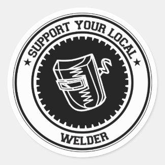 Support Your Local Welder Classic Round Sticker