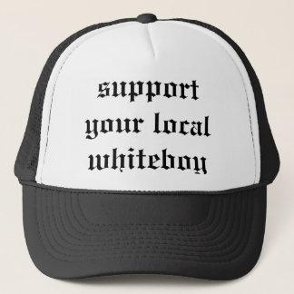 support your local whiteboy trucker hat