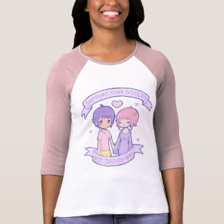 Support Your Sisters 3/4 Sleeve Raglan T-Shirt