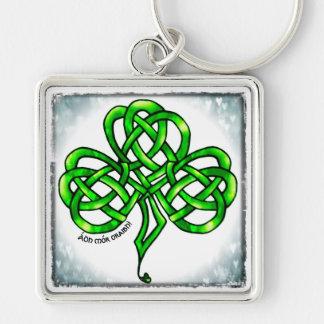 Supporter, clover sheet, Celtic knot, much luck Keychain
