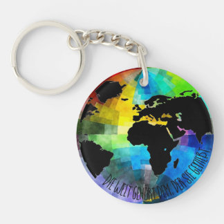"""Supporter """"Die Welt belongs to that, which enjoys Keychain"""