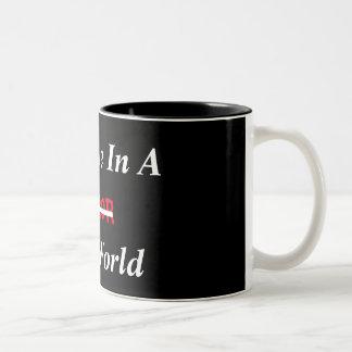 Supporting A Terror Free Future Two-Tone Coffee Mug
