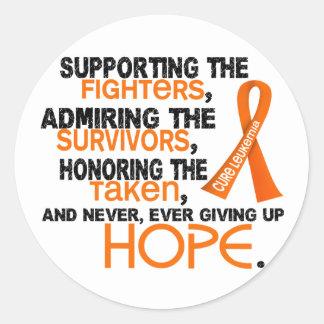 Supporting Admiring Honoring 3.2 Leukemia Round Sticker