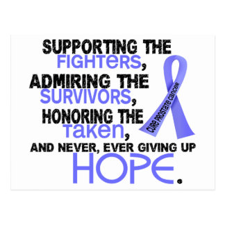 Supporting Admiring Honoring 3.2 Prostate Cancer Postcard