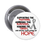 Supporting Admiring Honouring 3.2 Brain Tumour Pinback Buttons