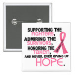 Supporting Admiring Honouring 3.2 Breast Cancer Button