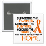 Supporting Admiring Honouring 3.2 Kidney Cancer Pins