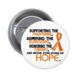 Supporting Admiring Honouring 3.2 Leukaemia Button
