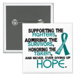Supporting Admiring Honouring 3.2 Ovarian Cancer 2 Inch Square Button