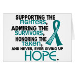 Supporting Admiring Honouring 3.2 Ovarian Cancer Greeting Card
