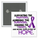 Supporting Admiring Honouring 3.2 Pancreatic Cance Pinback Buttons