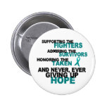 Supporting Admiring Honouring 3 OVARIAN CANCER Pin