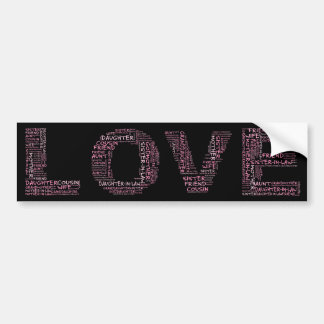 Supporting Loved Ones (Pink Text) Bumper Stickers
