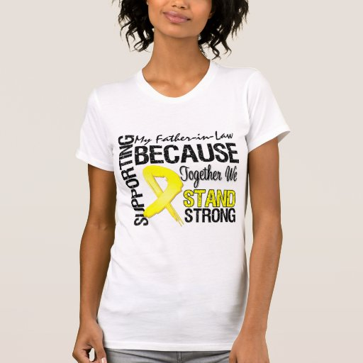 Supporting My Father-in-Law We Stand Strong - Mili Tee Shirt