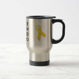 Supporting My Hero Endometriosis Awareness Travel Mug