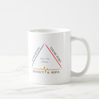 Supporting Police, Fire, and Rescue Coffee Mug