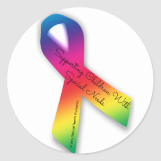 Supporting Special Needs Children Ribbon Sticker