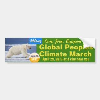 Supporting the Peoples Climate March on Washington Bumper Sticker