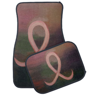 Supportive Auto | Rust Pink Breast Cancer Ribbon Car Mat