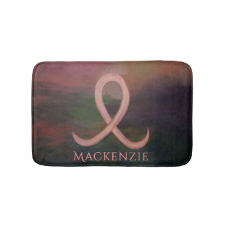 Supportive Bath | Name Rustic Pink Breast Cancer Bath Mat