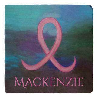 Supportive Kitchen | Bold Pink Breast Cancer Name Trivet