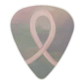 Supportive Music | Rustic Pink  Breast Cancer Acetal Guitar Pick