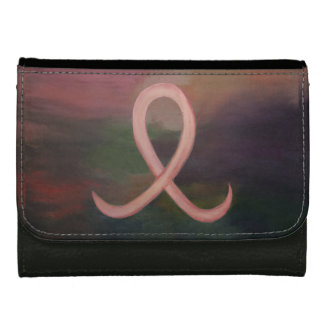 Supportive Style | Name Rustic Pink Breast Cancer Wallets