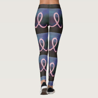 Supportive Style | Pale Pink Breast Cancer Ribbon Leggings