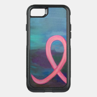 Supportive Tech   Bold Pink Breast Cancer Ribbon OtterBox Commuter iPhone 8/7 Case