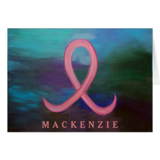 Supportive Words | Bold Pink Breast Cancer Ribbon Card