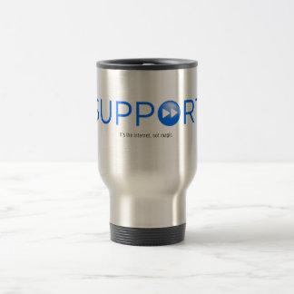supports are good travel mug