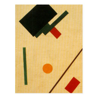 Suprematist composition by Kazimir Malevich Postcard