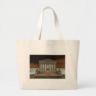 Supreme Court at Night Large Tote Bag