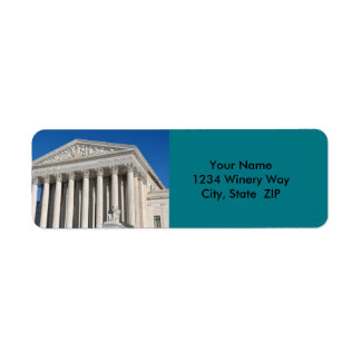 Supreme Court Building of the United States Return Address Label