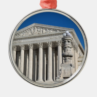 Supreme Court Building of the United States Silver-Colored Round Ornament