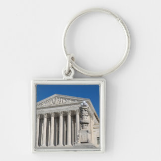 Supreme Court Building of the United States Silver-Colored Square Keychain