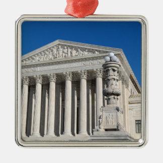 Supreme Court Building of the United States Silver-Colored Square Ornament