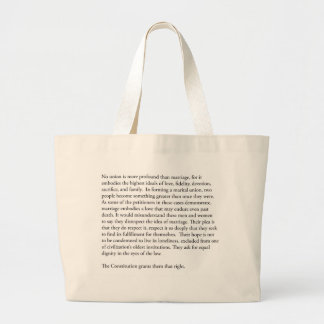 Supreme Court Justice Anthony Kennedy gay marriage Large Tote Bag