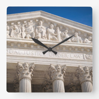 Supreme Court of the United States of America Square Wall Clock
