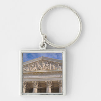 Supreme Court of United States Silver-Colored Square Keychain