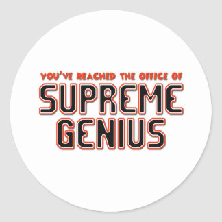 Supreme Genius Round Sticker