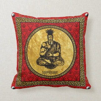 Supreme Royalty First Buddhist Pillow(Red,Gold) Throw Pillow