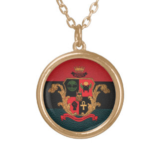 Supreme Royalty Nobility Crest Necklace (Gold/Tri)