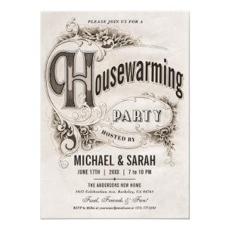 Supreme Vintage Housewarming Party Invitations