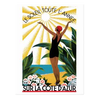 Sur La Cote D'Azur Postcard