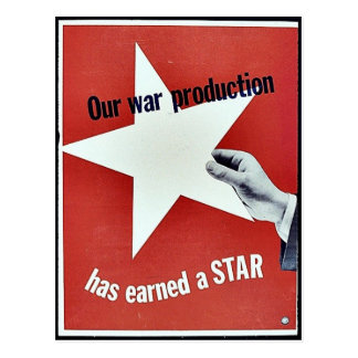 Sur la guerre la production a gagné une étoile cartes postales