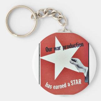 Sur la guerre la production a gagné une étoile porte-clés