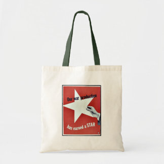 Sur la guerre la production a gagné une étoile sac
