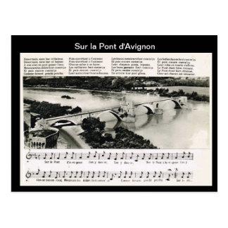 Sur la Pont d Avignon Postcard
