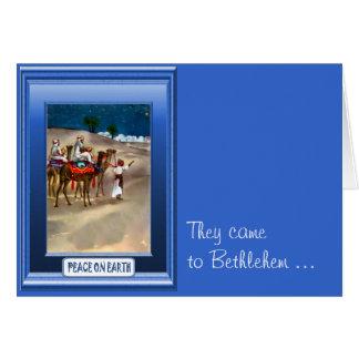 Sur le chemin vers Bethlehem Carte De Vœux